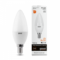 Лампа Gauss LED Elementary Candle 6W E14 3000K