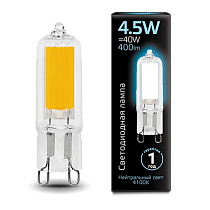 Лампа Gauss LED G9 AC220-240V 4.5W 4100K Glass