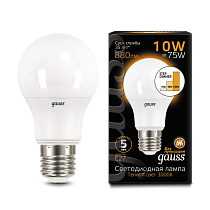102502110-S Лампа Gauss LED A60 10W E27 2700-3000K step dimmable