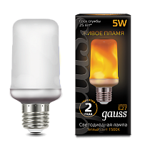 157402105 Лампа Gauss Led T65 Corn Flame 5W E27 1500K