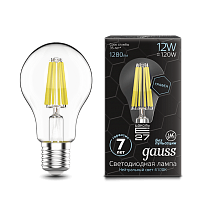 102802212 Лампа Gauss LED Filament Graphene A60 E27 12W 4100К