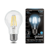 102802210 Лампа Gauss LED Filament A60 E27 10W 4100К