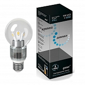 HA105202205-D Светодиодная лампа Gauss LED Globe Crystal clear 5W E27 4100K