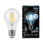 102802210-S Лампа Gauss LED Filament A60 E27 10W 4100К step dimmable