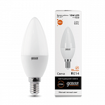 33110 Лампа Gauss LED Elementary Candle 10W E14 2700-3000K