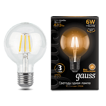 105802106 Лампа Gauss LED Filament G95 E27 6W 2700-3000K