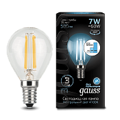 105801207-S Лампа Gauss LED Filament Globe E14 7W 4100K step dimmable