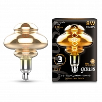 162802008 Лампа Gauss Led Vintage Filament Flexible BD160 8W 330lm E27 160*210mm Gray 2400K 1/6