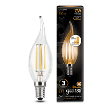 104801107-S Лампа Gauss LED Filament Candle tailed E14 7W 2700-3000K step dimmable