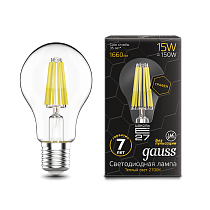 102802115 Лампа Gauss LED Filament Graphene A60 E27 15W 2700-3000K