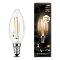 103801107-S Лампа Gauss LED Filament Candle E14 7W 2700-3000K step dimmable