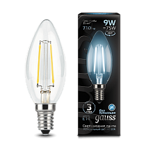 103801209 Лампа Gauss LED Filament Candle E14 9W 4100К