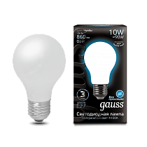 102202210 Лампа Gauss LED Filament A60 OPAL E27 10W 4100К