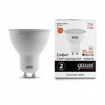 Лампа Gauss LED Elementary MR16 GU10 7W 530lm 3000К