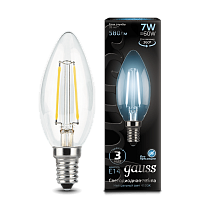 103801207 Лампа Gauss LED Filament Candle E14 7W 4100К