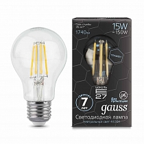 102802215 Лампа Gauss LED Filament Graphene A60 E27 15W 4100К