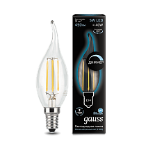 Лампа Gauss LED Filament Candle tailed dimmable E14 5W 4100K