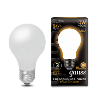 102202110 Лампа Gauss LED Filament A60 OPAL E27 10W 2700-3000K