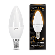 103101110 Лампа Gauss LED Candle E14 9.5W 3000К