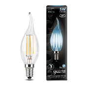 104801205 Лампа Gauss LED Filament Candle tailed E14 5W 4100K