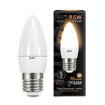 103102110 Лампа Gauss LED Candle E27 9.5W 3000К