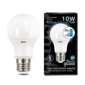 102502210-S Лампа Gauss LED A60 10W E27 4100K step dimmable