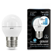 105102207-S Лампа Gauss LED Globe E27 7W 4100K step dimmable