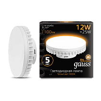Лампа Gauss LED GX70 12W AC150-265V 3000K