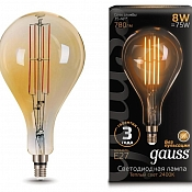 Лампа Gauss LED Vintage Filament A160 8W E27 160*300mm Golden 780lm 2400K 1/6