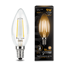 103801109 Лампа Gauss LED Filament Candle E14 9W 2700-3000K